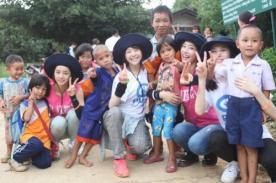 Integrantes de Girl's Day hicieron labor social en Tailandia - Fotos