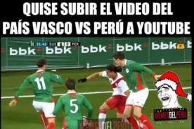 Difunden ocurrentes memes de Perú tras goleada ante País Vasco 6 - 0