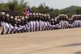 YouTube: Grupo militar tailandés causa sensación por coordinación y ritmo