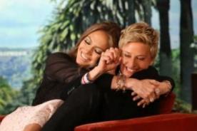 Jennifer Lopez abraza a Ellen DeGeneres para contagiarle un virus - VÍDEO