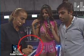 Luciana Fuster sufrió en carne propia la disciplina de Natalia Málaga en Reto de Campeones - FOTO