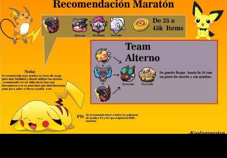 Pokémon Shuffle: Equipos recomendados para la maratón