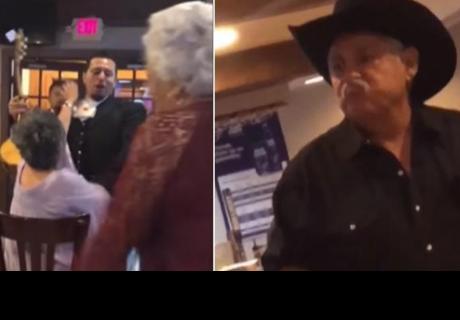 Esta fue la reacción de un hombre al descubrir a su esposa bailando muy sugerente con mariachi