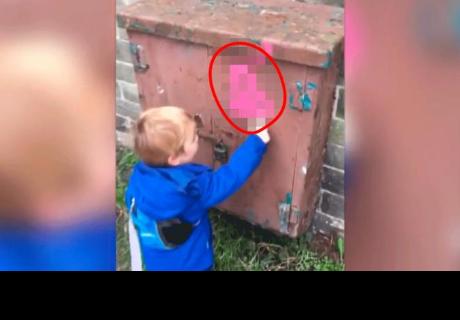 Niño confundió este graffiti por otro objeto y arrancó las carcajadas en los cibernautas