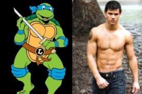 Taylor Lautner encarnará a uno de las Tortugas Ninja