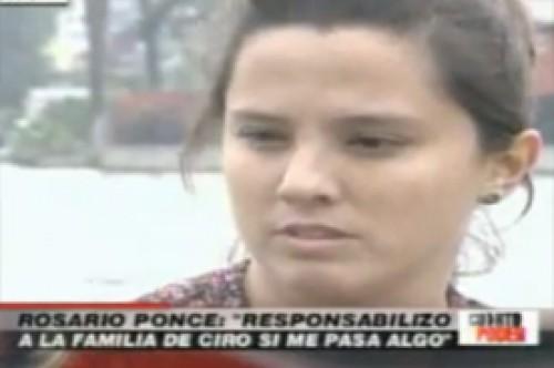 Rosario Ponce ríe al hablar sobre la caída de Ciro Castillo (Video)