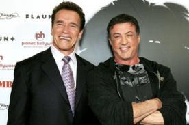 Arnold Schwarzenegger y Sylvester Stallone se halagan durante la feria Comic Con