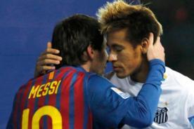 Olimpiadas 2012: Neymar se rindió ante los pies de Messi