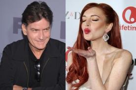 Lindsay Lohan agradeció a Charlie Sheen por pagar su deuda
