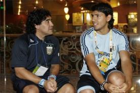 Diego Maradona recriminó a 'Kun' Agüero por dejar a su hija por otra mujer