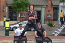 Channing Tatum parodia acrobacia de Van Damme - Video