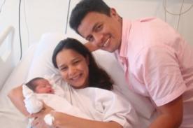 Maricielo Effio presentó a su primogénita Brisa