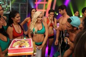 Combate: Nikko Ponce sorprendió a Yamila Piñero por su cumpleaños - Video