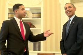 Presidente de Estados Unidos conoce a su imitador de YouTube