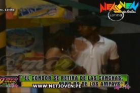 'Cóndor' Mendoza es 'ampayado' con una joven saliendo de discoteca - VIDEO