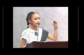 Discurso de niña orgullosa de ser indígena conmueve redes sociales - VIDEO