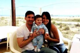 Barcelona: Tierna foto de Antonella Roccuzzo y su hijo para Lionel Messi - FOTO