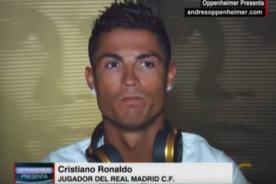 Cristiano Ronaldo se ofende y abandona entrevista sobre corrupción de FIFA - VIDEO