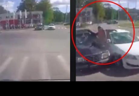 Conductor se detuvo en plena calle y presenció una 'milagrosa' escena
