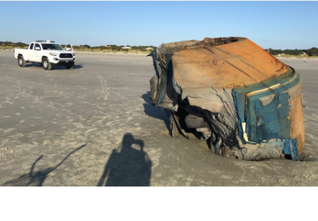 Un misterioso objeto apareció en playa de EE.UU