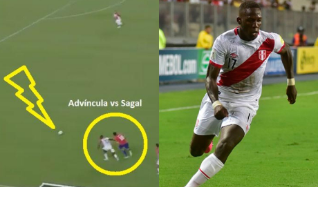 3 veces en la que Luis Advíncula sorprendió con su velocidad al rival.