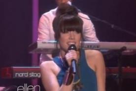 Carly Rae Jepsen cantó 'This Kiss' en programa de Ellen DeGeneres - Video