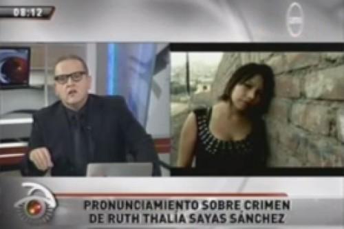 Beto Ortiz sobre muerte de Ruth Thalía: Este no es un crimen pasional
