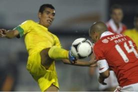 Paolo Hurtado juega por el Pacos Ferreira en derrota frente al Benfica