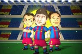 Video: Barça toons calientan el clásico entre Barcelona y Real Madrid