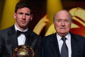 Joseph Blatter: Hoy por hoy, Lionel Messi es el mejor del mundo