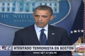 Tragedia en Boston: Barack Obama lamenta explosiones en maratón – Video