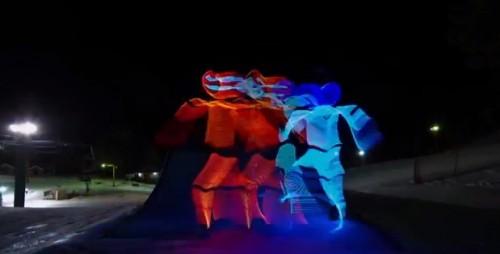 Snowboard y luces LED: La nueva tendencia que invade Youtube – VIDEO
