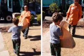 Niño autista recibe el inesperado regalo de un conductor de camión de basura - VIDEO
