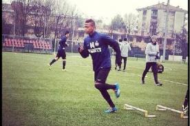 Andy Polo anotó su primer gol en los entrenamientos del Inter de Milán