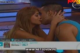 Melissa Paredes besa a Álvaro Stoll frente a Ignacio Baladan - Video