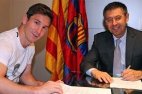 Lionel Messi renovó con Barcelona
