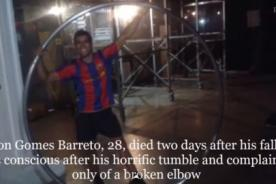 Acróbata pierde la vida tras fallar riesgoso truco [Video]