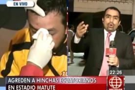 Copa Sudamericana: Hinchas de Alianza Lima agreden a ecuatorianos