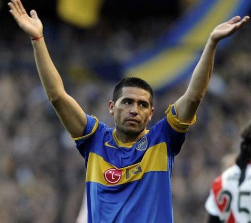 Fútbol argentino. Juan Román Riquelme se recuperó de su lesión