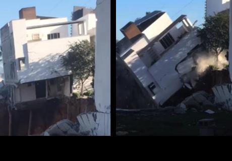 Hombre salió a comprar leche y cuando volvió encontró su casa destruida