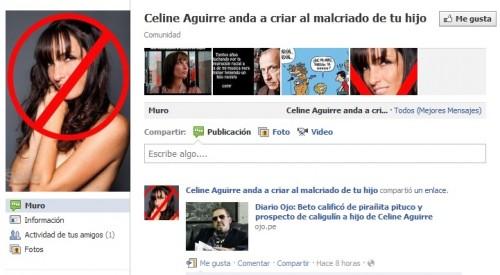 Hijo de Celine Aguirre es vapuleado en Facebook
