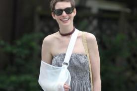 Anne Hathaway sufre lesión tras accidente