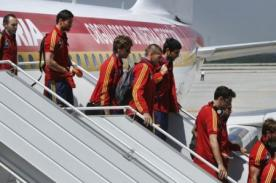 Eurocopa: España llegó a Kiev, sede la de la final de la Euro