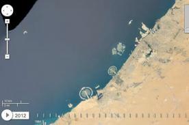 Google muestra imágenes del cambio de la Tierra entre 1984 y 2012
