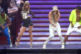 Taylor Swift y Jennifer Lopez realizan explosivo dueto en concierto - Video