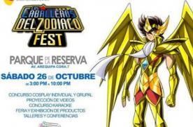 Caballeros del Zodiaco Fest se realizará en el Parque de la Reserva