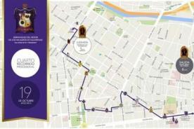 Señor de los Milagros: Mapa del cuarto recorrido de la procesión - FOTO