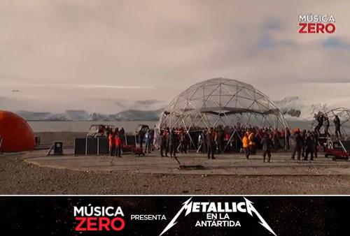 Metallica en vivo desde la Antártida: Mira aquí el súper concierto