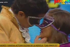 Combate: Ximena Hoyos besa a Andrés en escena de Casi Angeles - Video