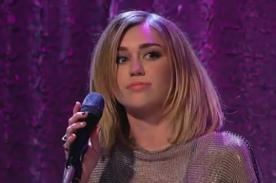 Video: Miley Cyrus se lució con cover de Bob Dylan